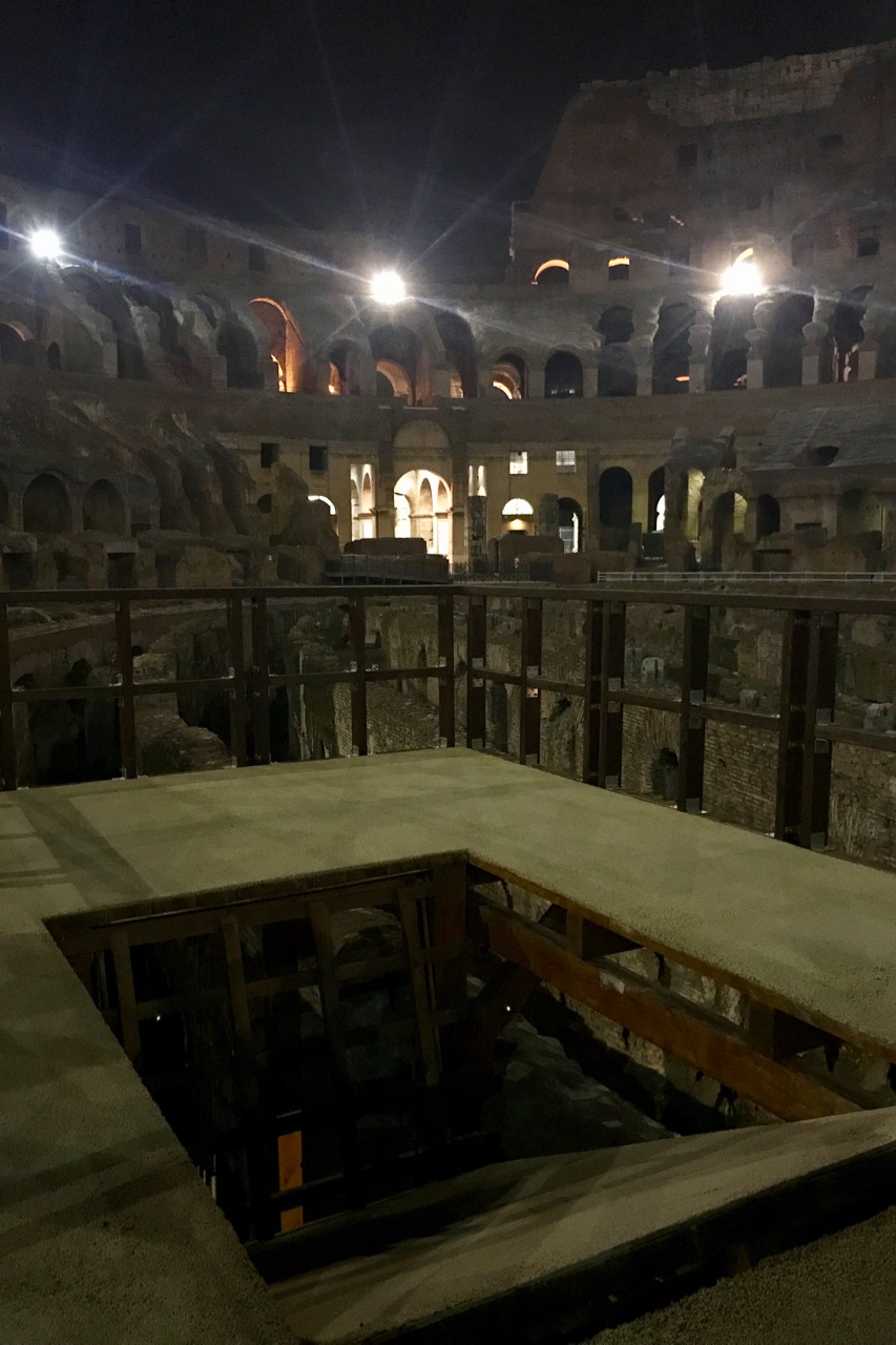 colosseum arena floor trap door