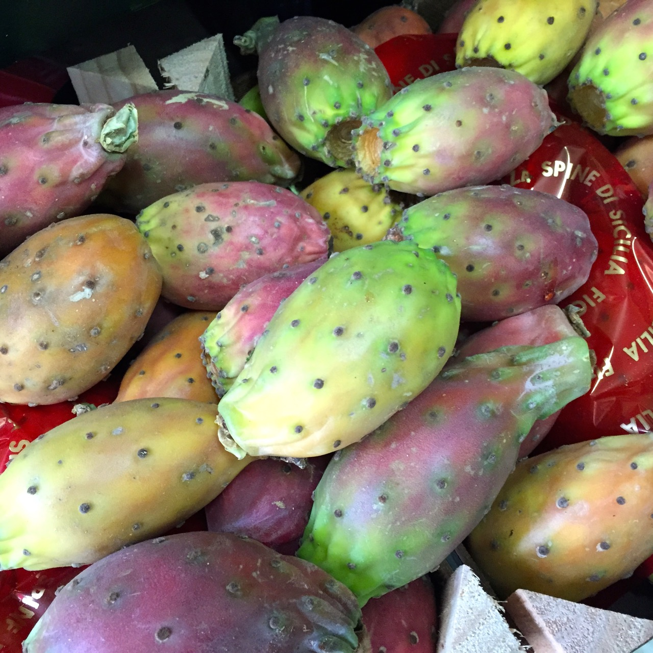 prickly pears in rome market