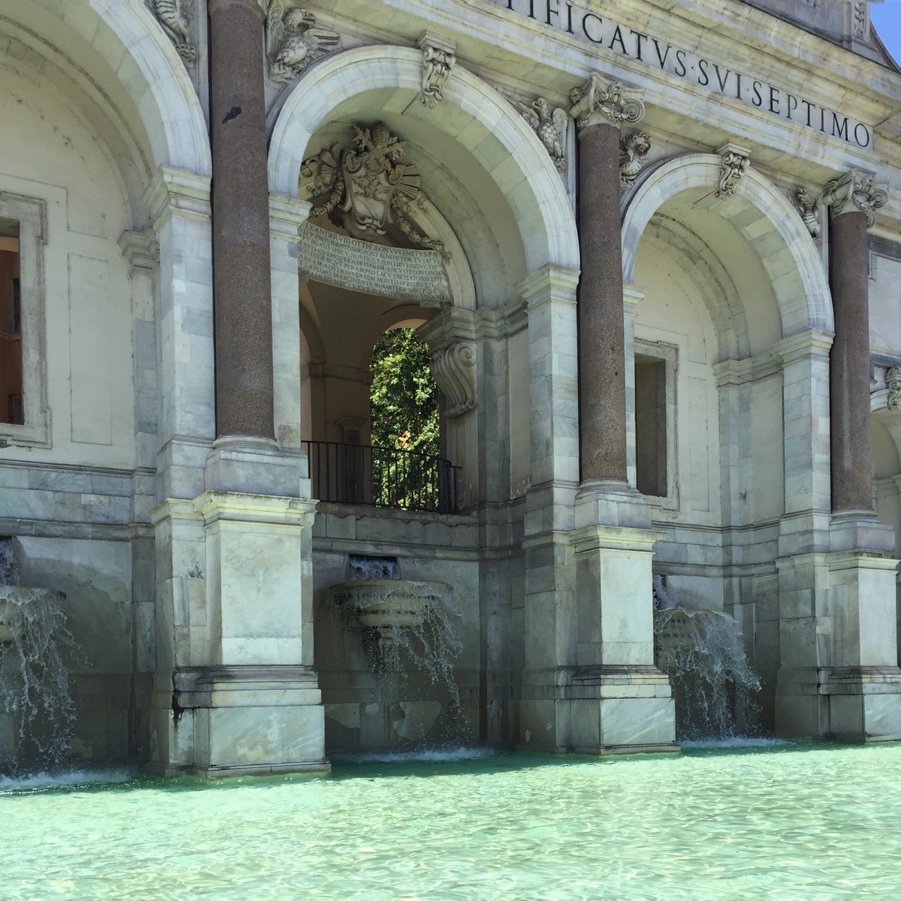 fontanone on gianicolo in rome