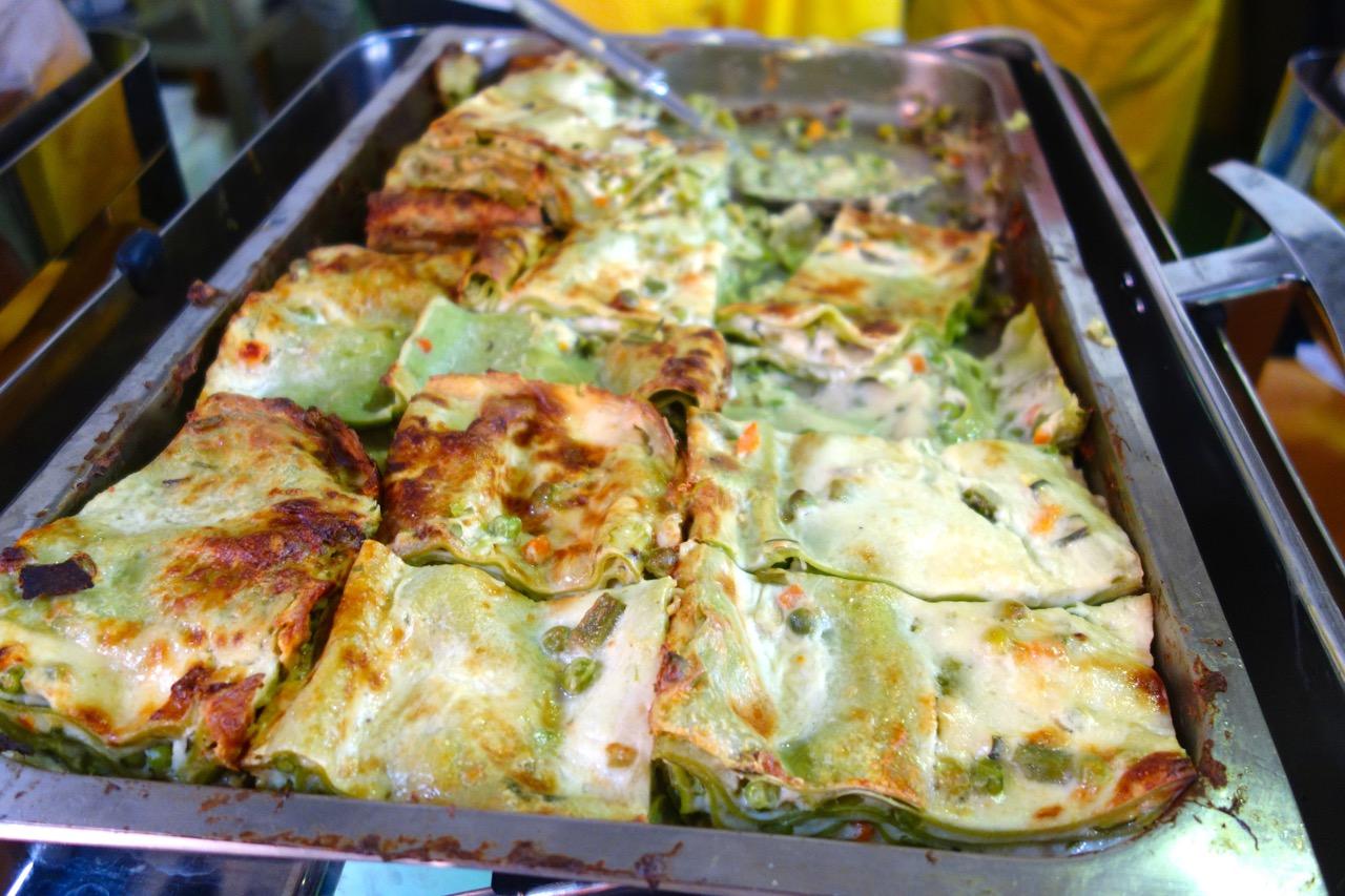 veg lasagne at campagna amica 5 euros