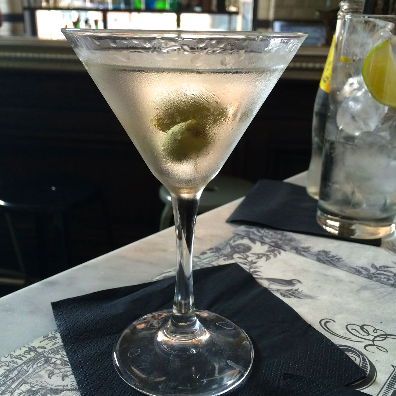 perfectly dry grey goose martini at caffe propaganda in rome