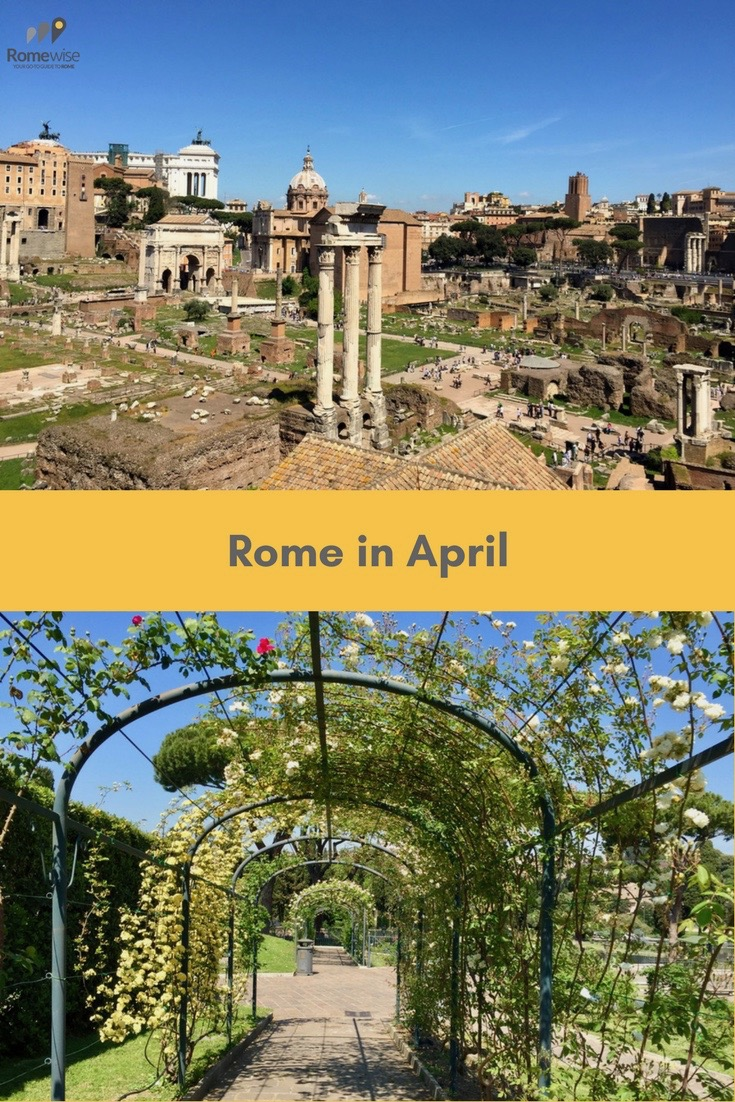 Rome in April - what the weather's like, what to pack, and what to expect, by Romewise