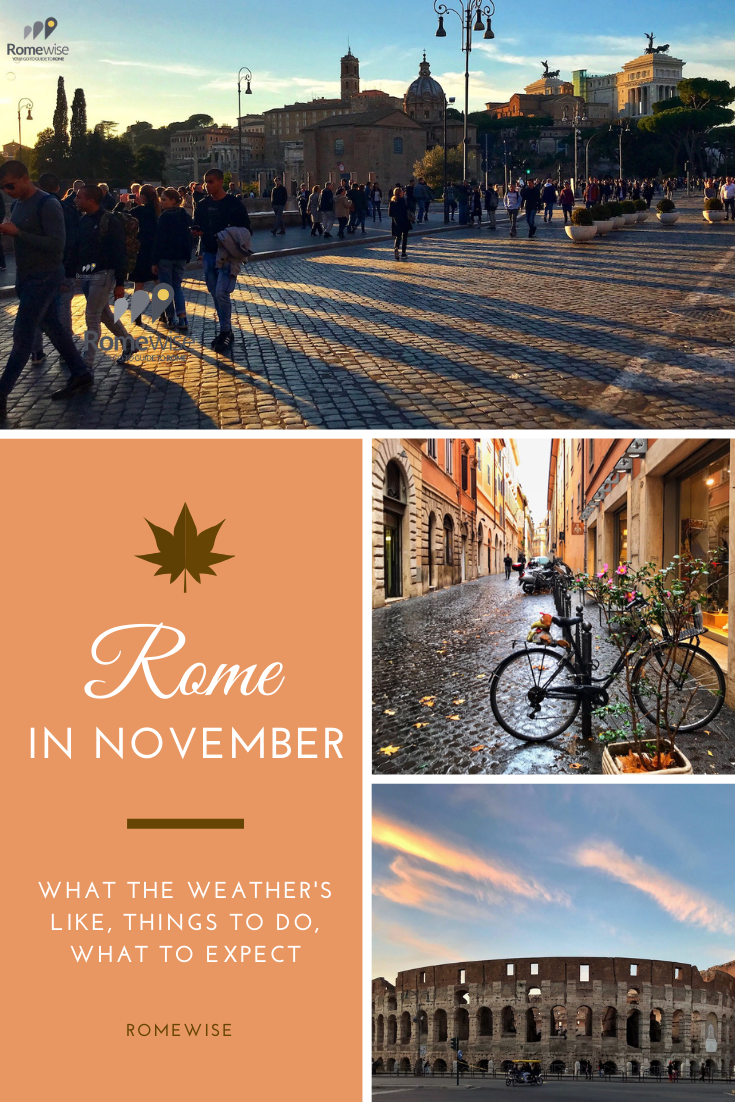 Rome in November - What the weather's like, what to pack, and things to do. By Romewise.