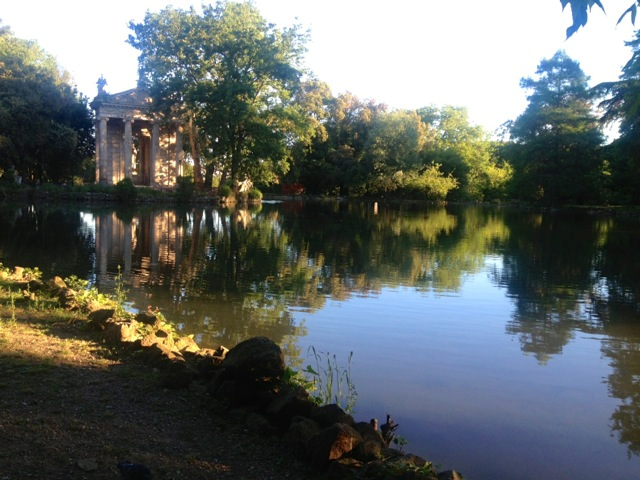 a lake in the borghese park
