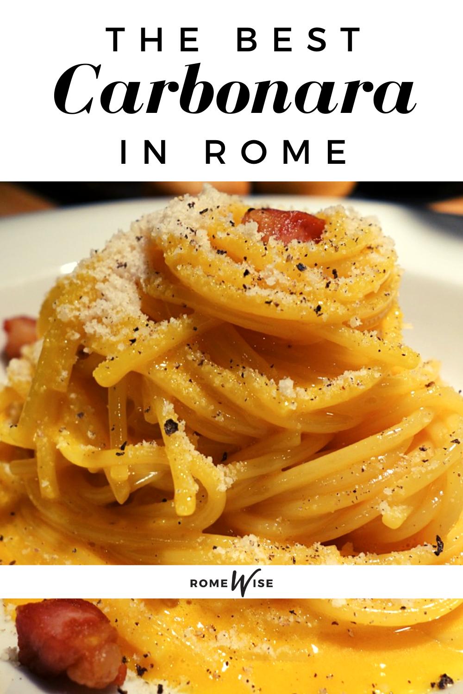 spaghetti carbonara in rome