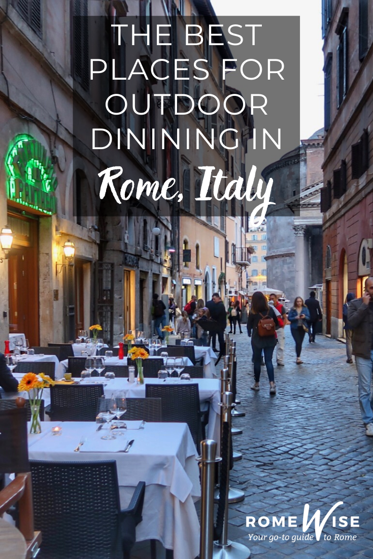 outdoor dining in rome piazza navona