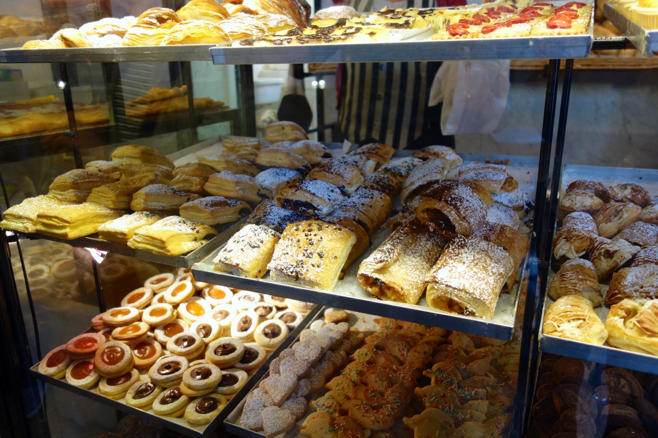 pastries at antico forno in monti