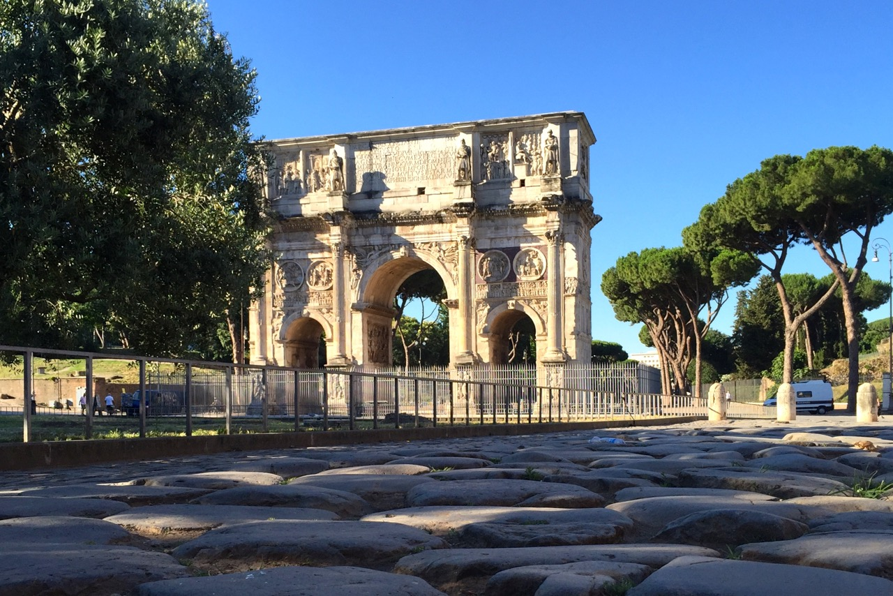 The arch of Constantine on a sunny June morning