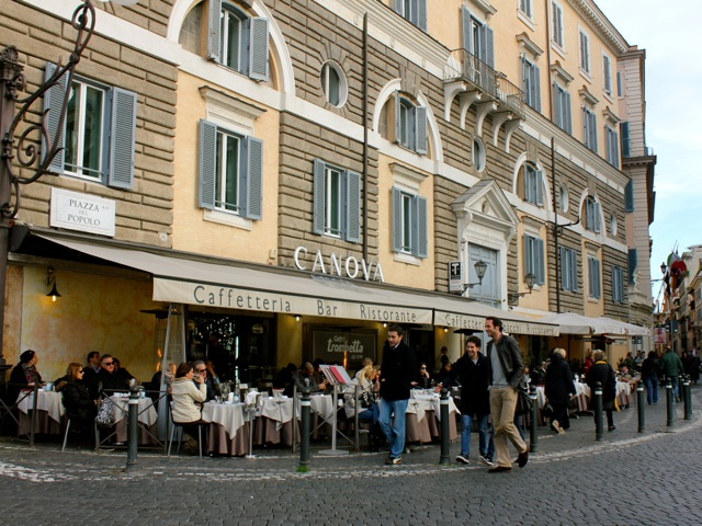 canova cafe at piazza del popolo