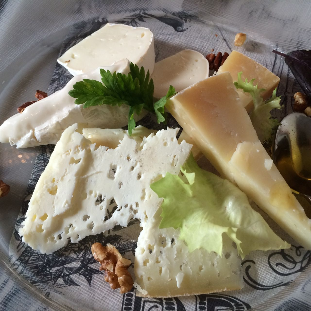 cheese plate at caffe propaganda in rome