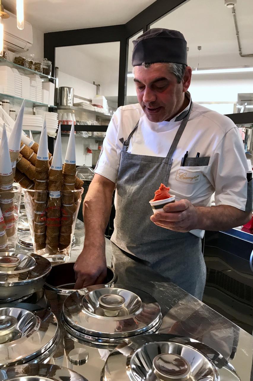 Ciampini lab gelato in rome