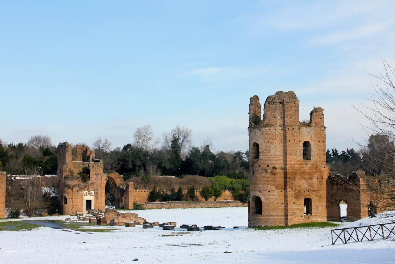 villa Maxentius with snow