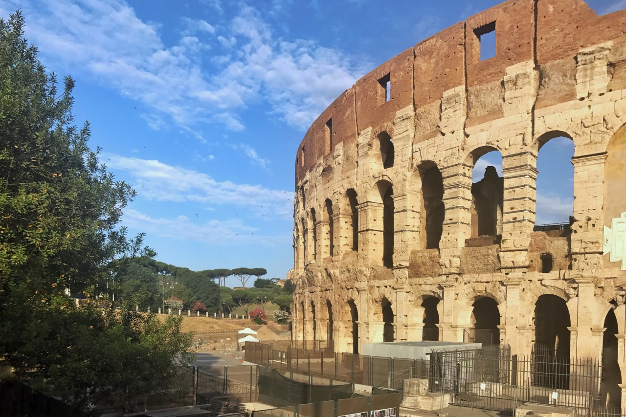 Colosseum early morning summer