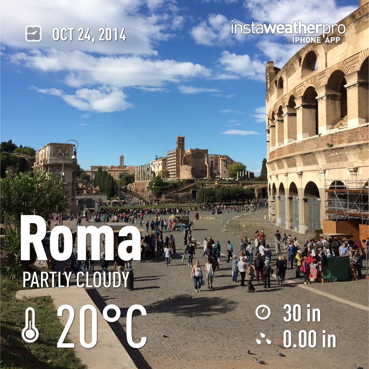 rome in october sunny warm and crowded