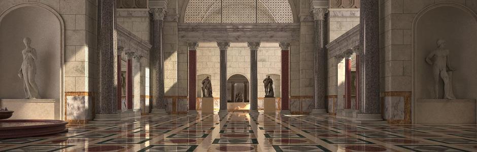 virtual reality image of baths of caracalla