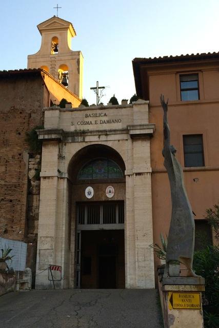 entrance to santi cosma e damiano