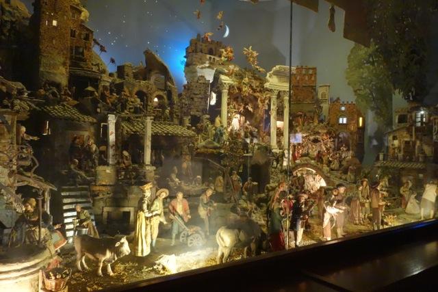 nativity scene inside santi cosma e damiano