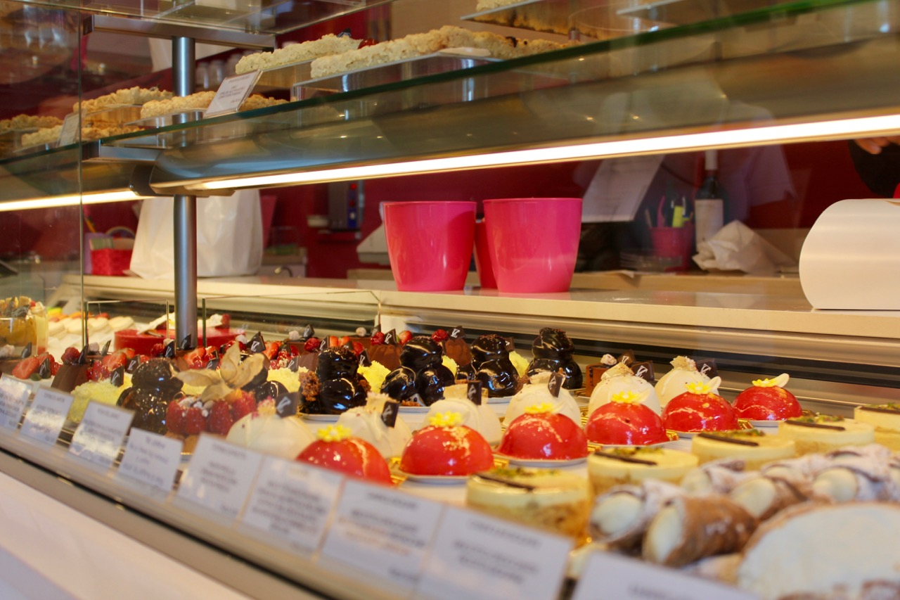 Pastries at Cafe San Teo near Circus Maximus