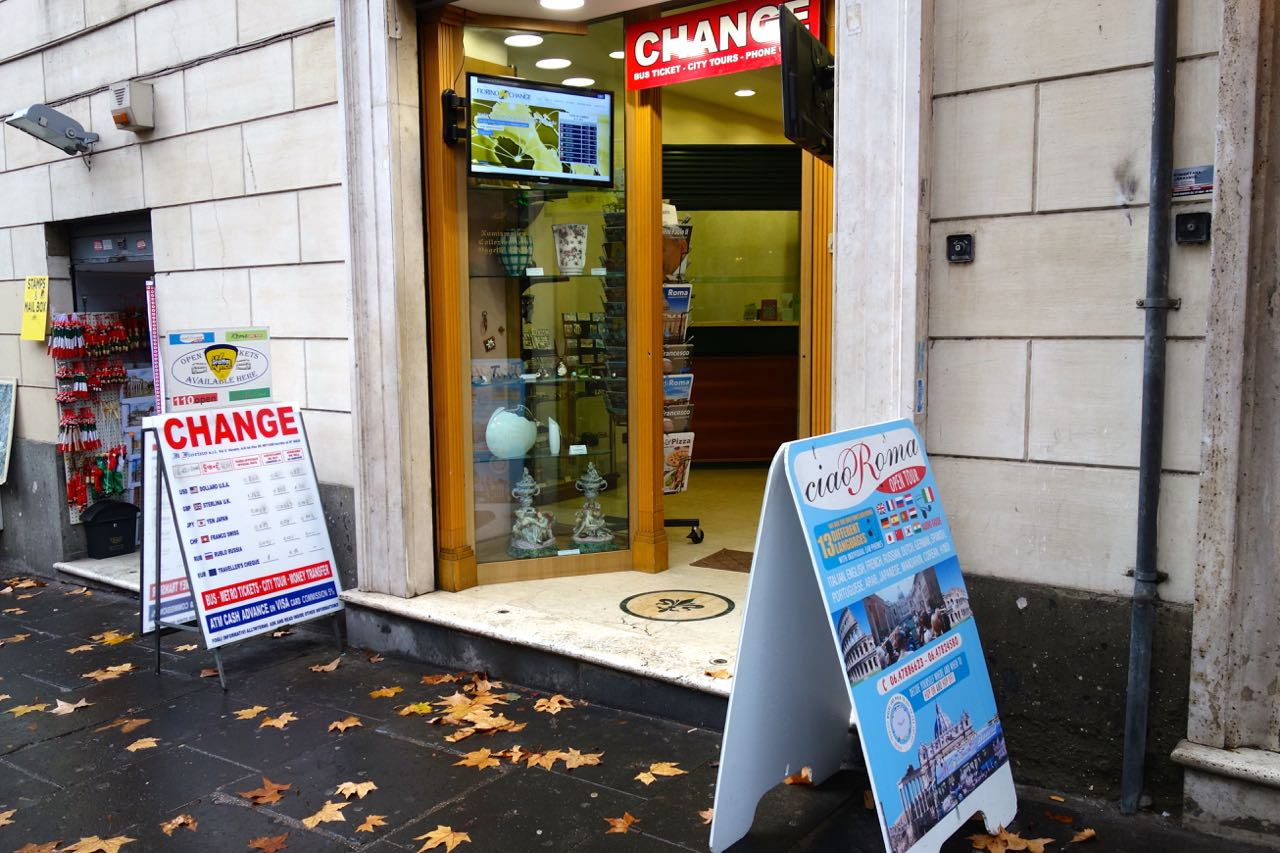 Currency Exchange On Via Veneto