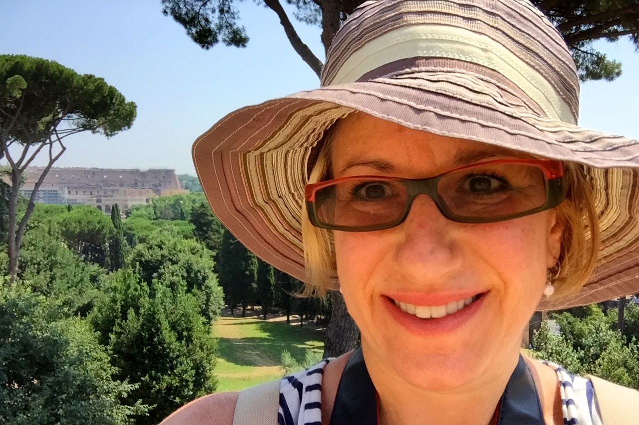 me in my hat in summer on the palatine hill