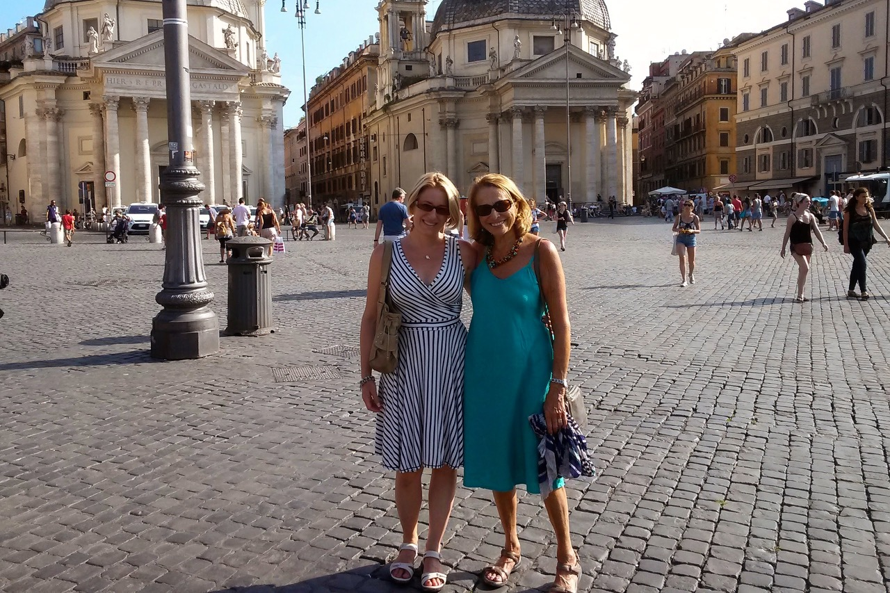 dressed for summer sightseeing in rome
