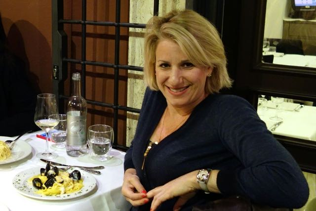 me at il falchetto restaurant in rome