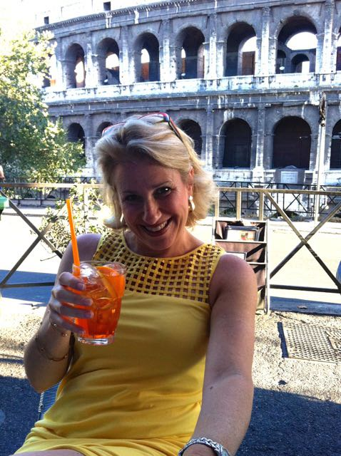 me at the oppio caffe near the coliseum in rome