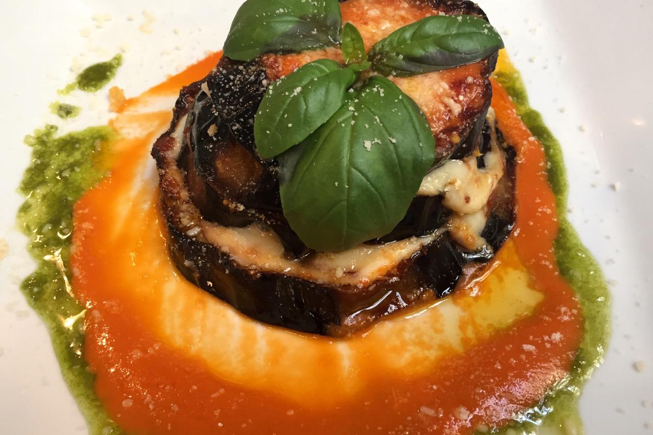 eggplant parmesan at pizzeria emma
