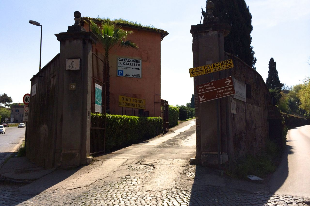 entrance to catacombs in rome