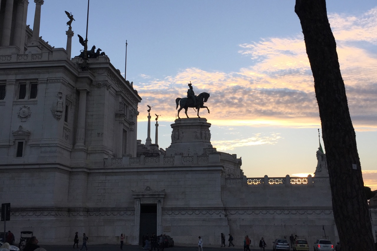 Vittoriano monument at sunset