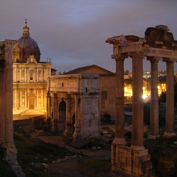 roman forum night. photo credit - viator