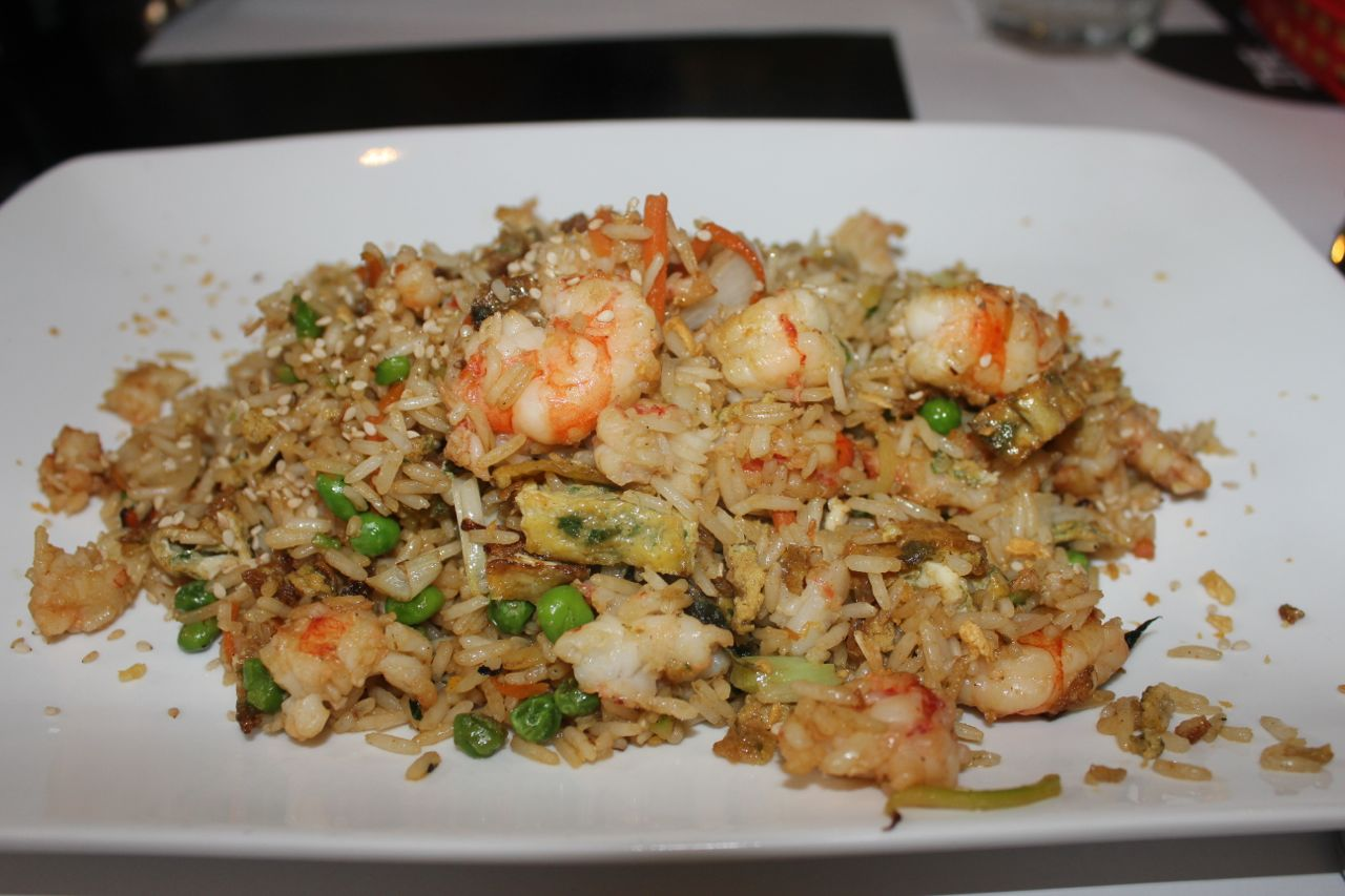 surprisingly delicious shrimp fried rice at the perfect bun