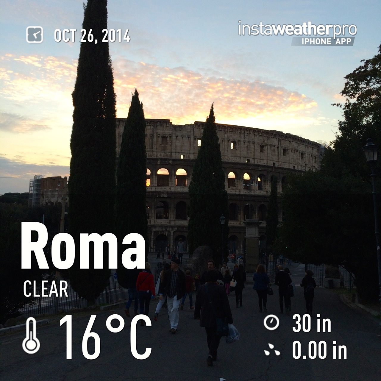 october 26 in rome 60 degrees F