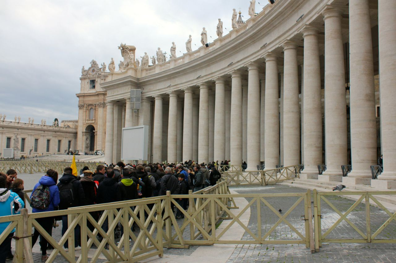 line to get into saint peters on January 2