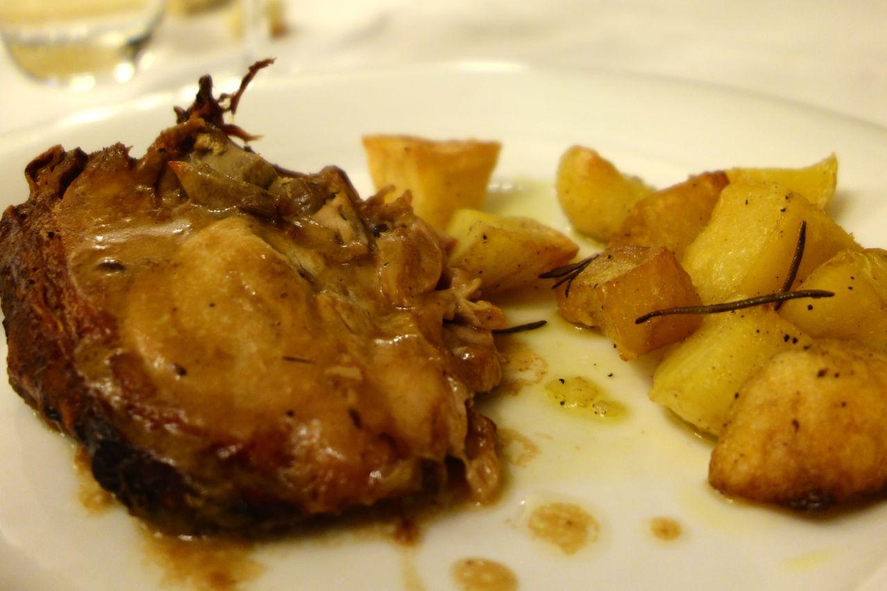 maialino al forno con le patate
