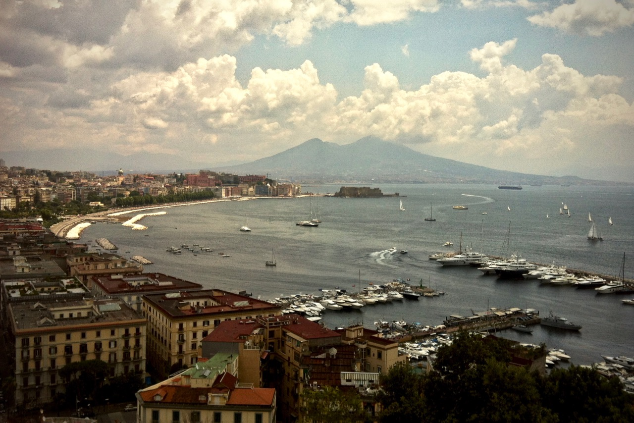 mount vesuvius as seen from naples