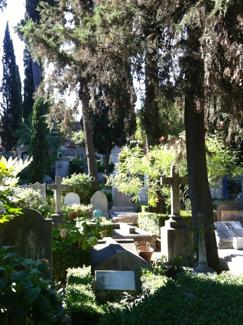non catholic cemetery in rome