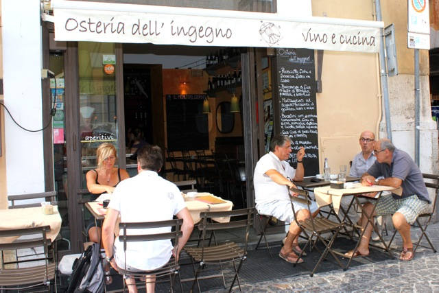 osteria dell'ingegno in summer