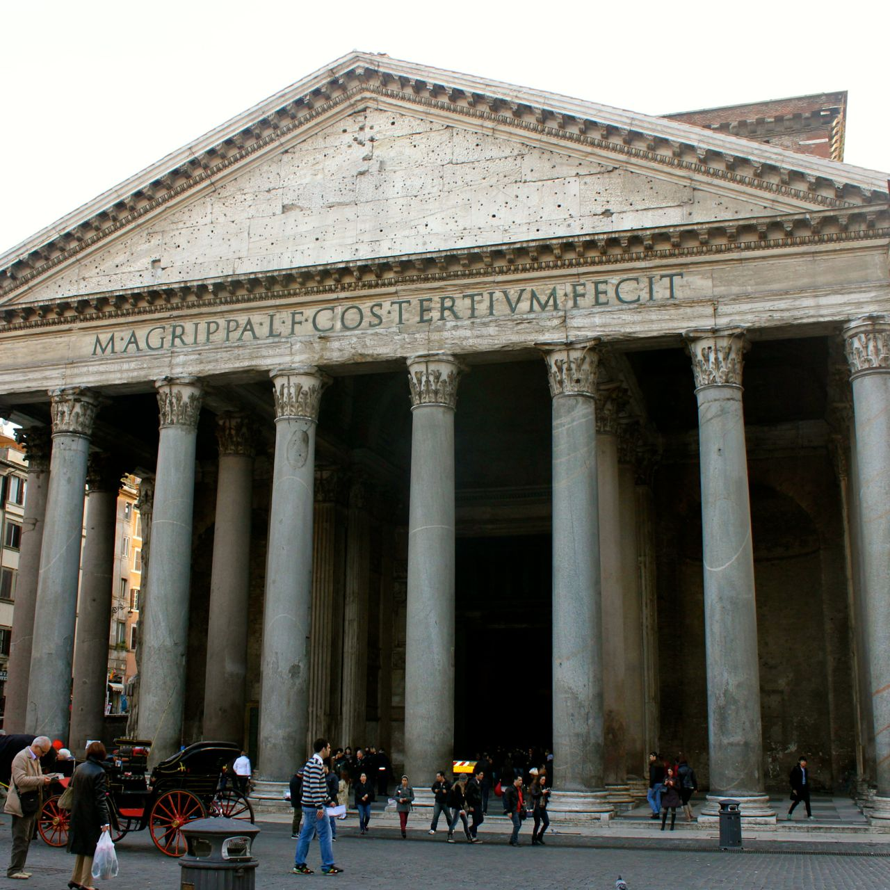 pantheon in winter