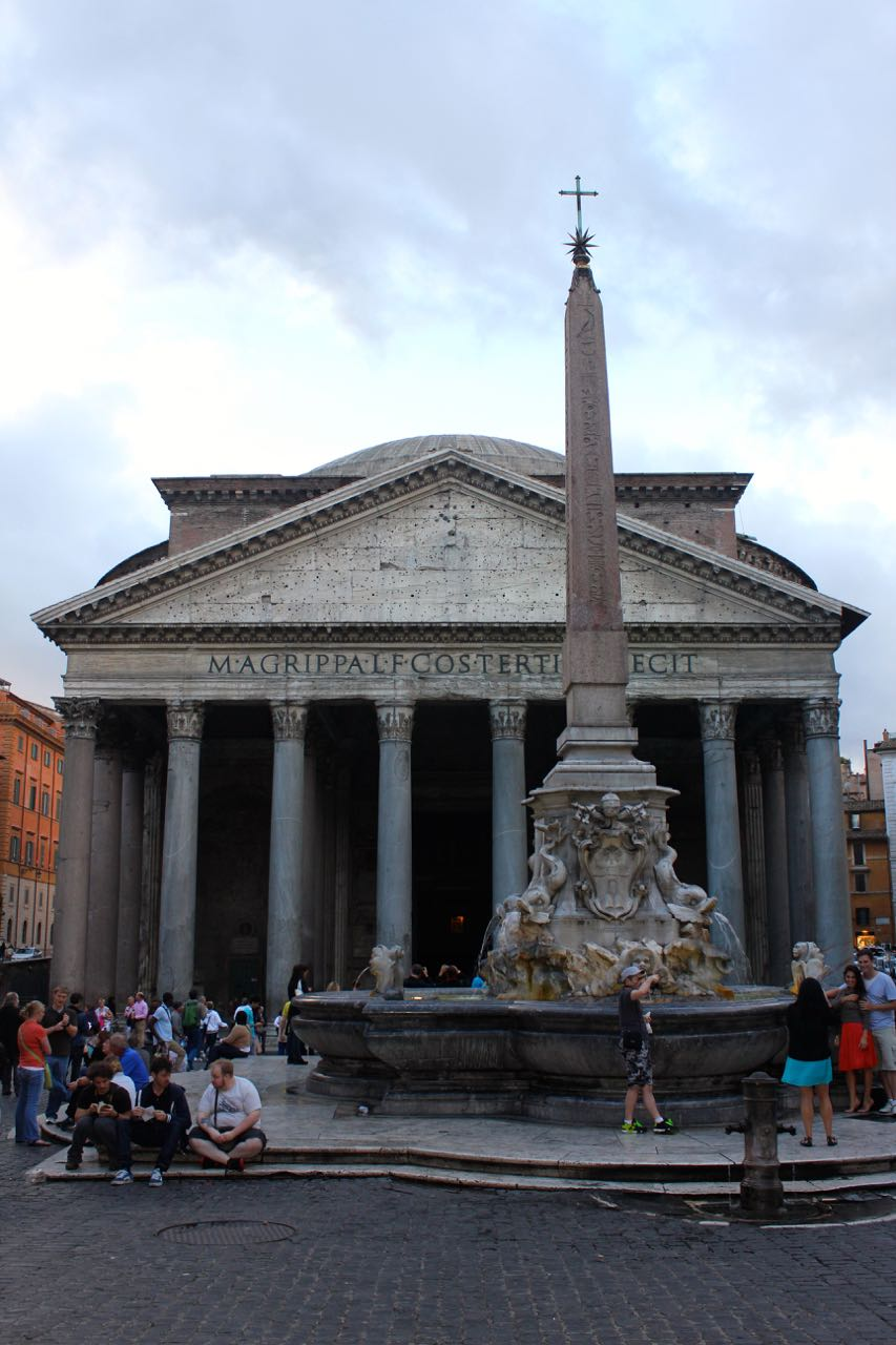 pantheon with obelisk