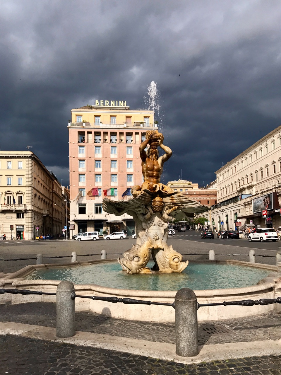 piazza barberini before the storm