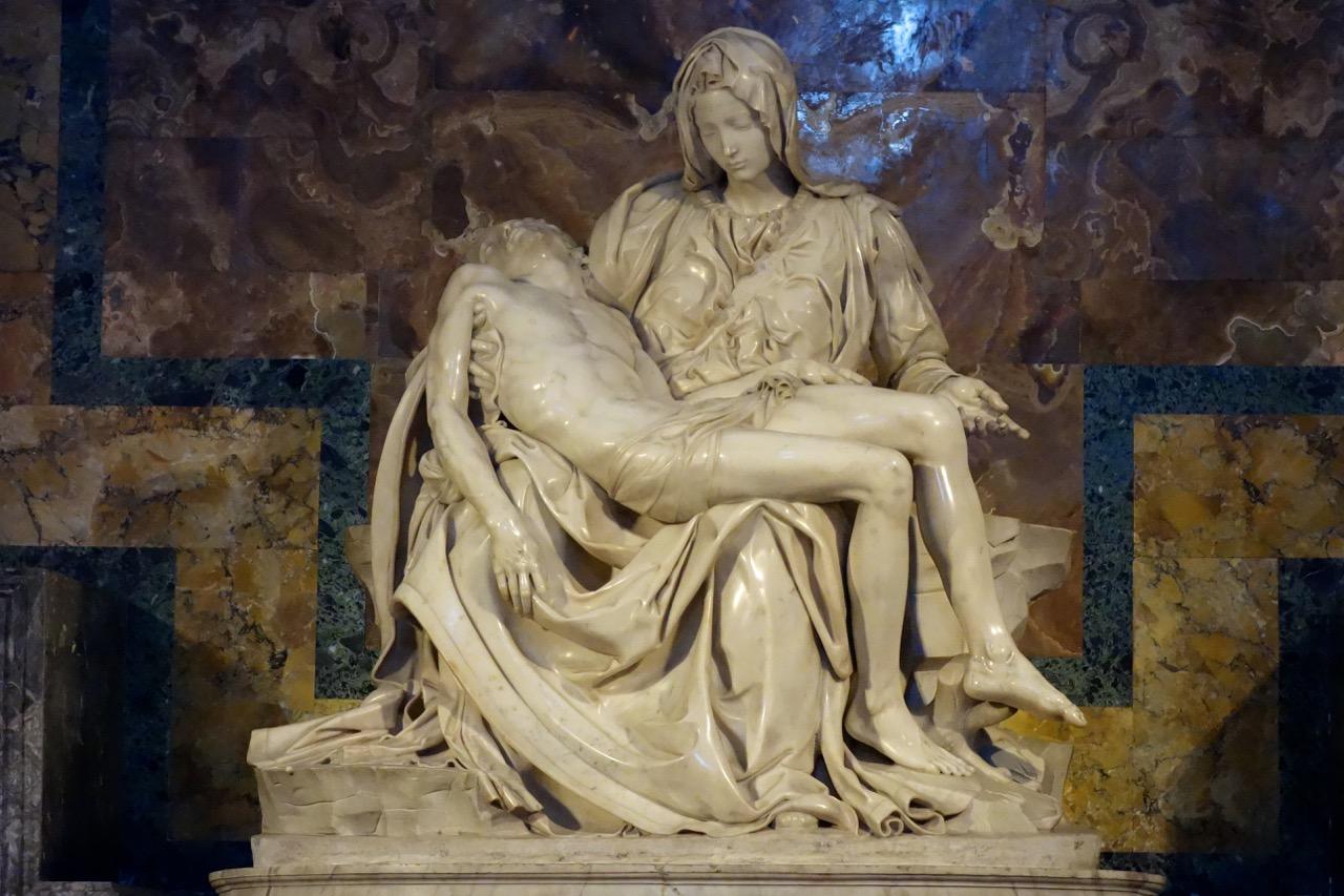 michelangelo's pietà inside saint peter's basilica