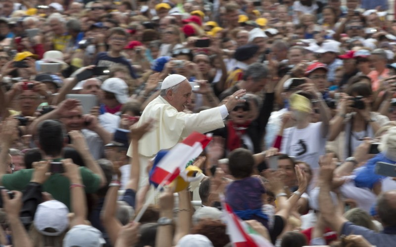 pope francis during papal audience