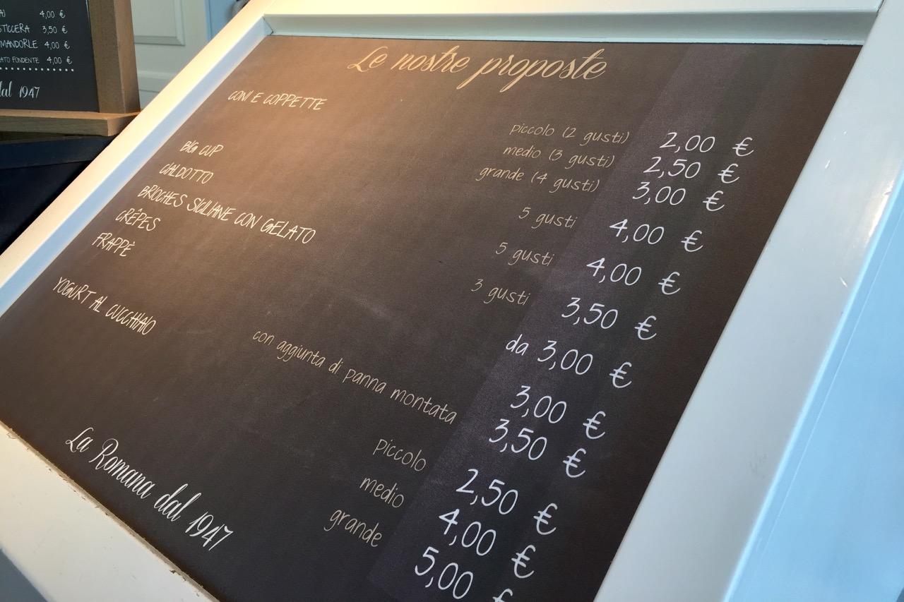 gelato prices