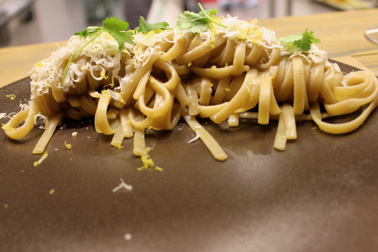 innovative pasta dish at Retrobottega