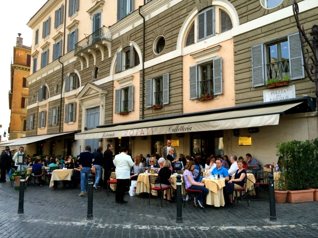rosati cafe at piazza del popolo