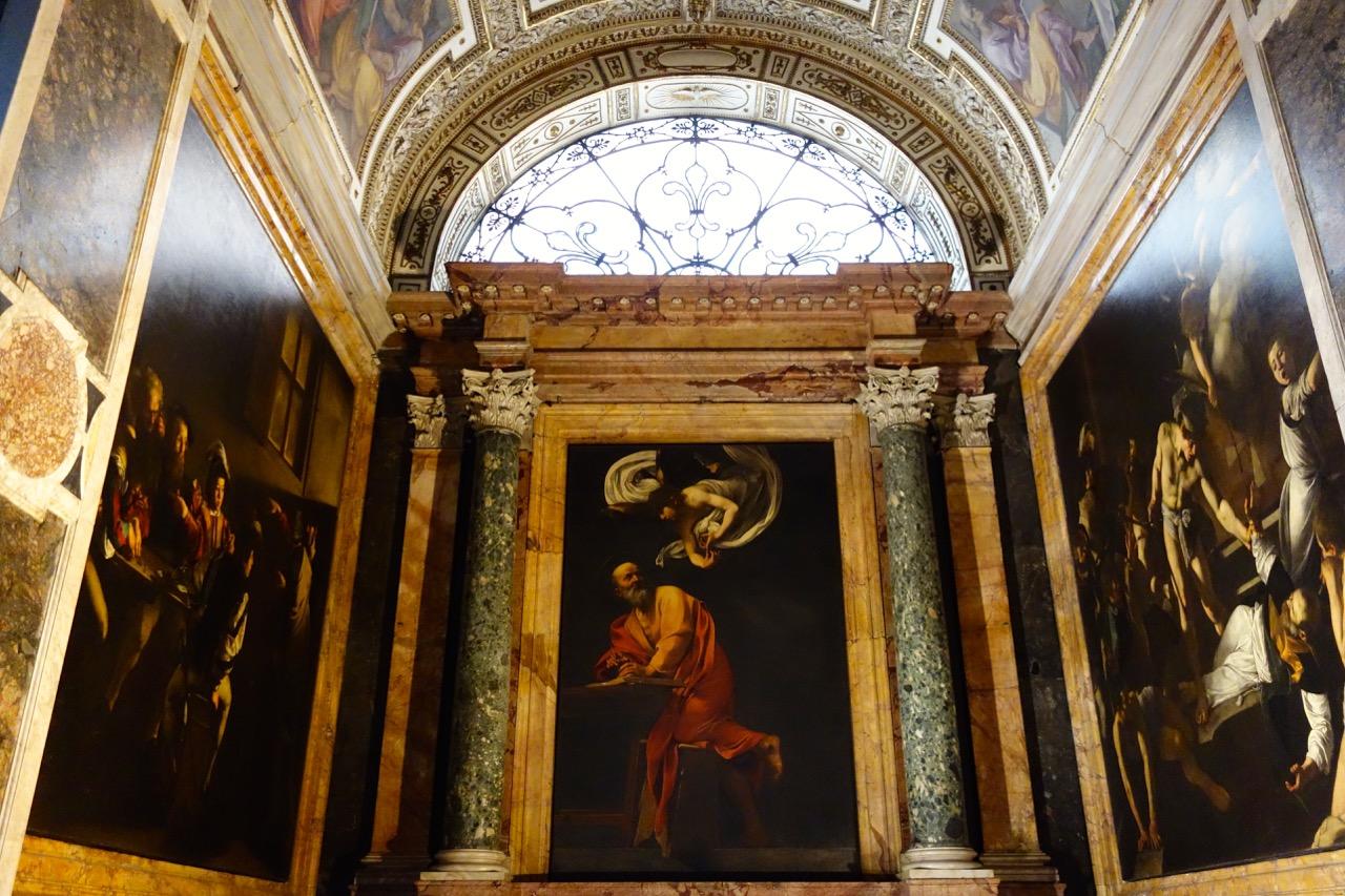 caravaggio's life of saint matthew in san luigi dei francesi