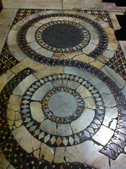 cosmatesque floor of santi quattro ai coronati