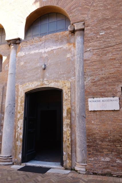 entrance to chapel at santi quattro