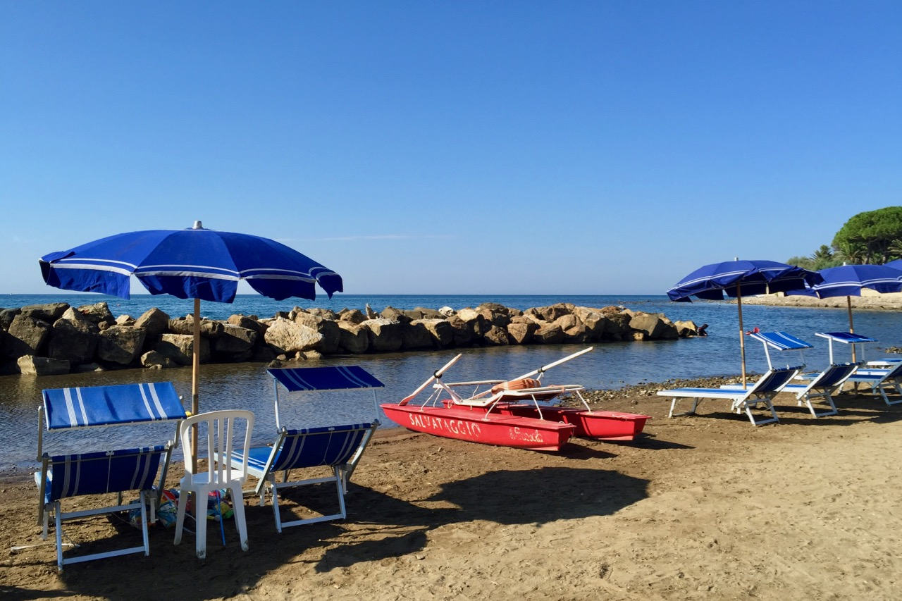 Santa Marinella beach near Rome